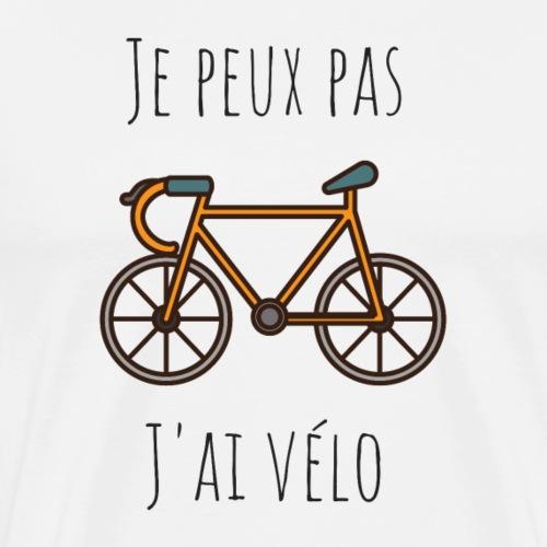 Je peux pas, j'ai vélo - T-shirt Premium Homme