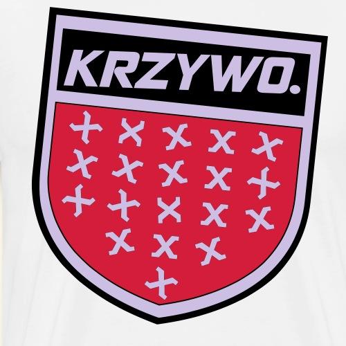 Krzywo Tarcza - Koszulka męska Premium