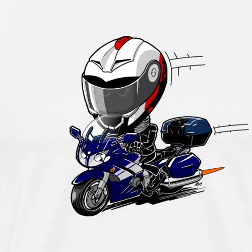 FJR OceanBlue helm en kofferset - Mannen Premium T-shirt