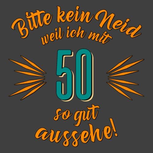 Geburtstag 50 - Bitte kein Neid petrol - Rahmenlos
