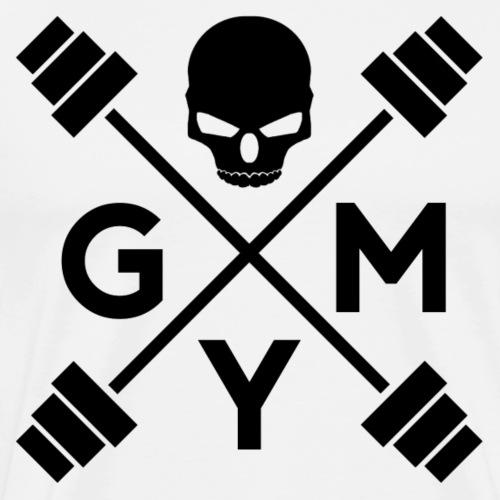 Gym Skull - Männer Premium T-Shirt