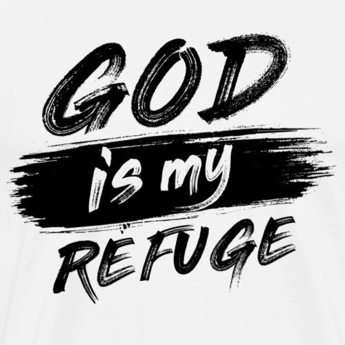 God is my refuge N - Maglietta Premium da uomo