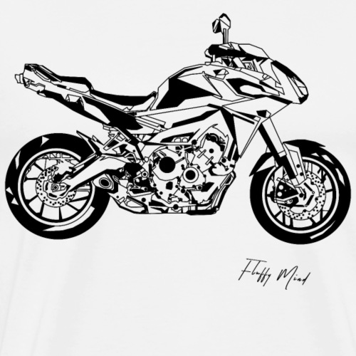 Moto Fractale - T-shirt Premium Homme