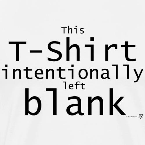 Fast leeres T-Shirt schwarz auf hell - Männer Premium T-Shirt