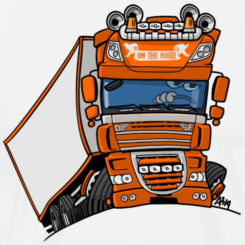 0793 D truck oranje trailer - Mannen Premium T-shirt