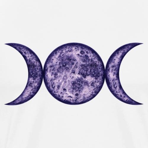 Mondphasen-purple-wicca - Männer Premium T-Shirt