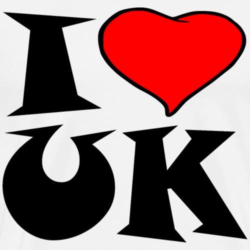Uk - Ich liebe UK - i love UK - Männer Premium T-Shirt