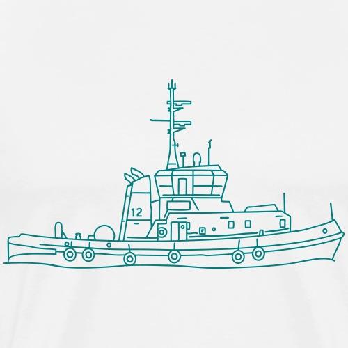 Schlepper Schleppschiff - Männer Premium T-Shirt