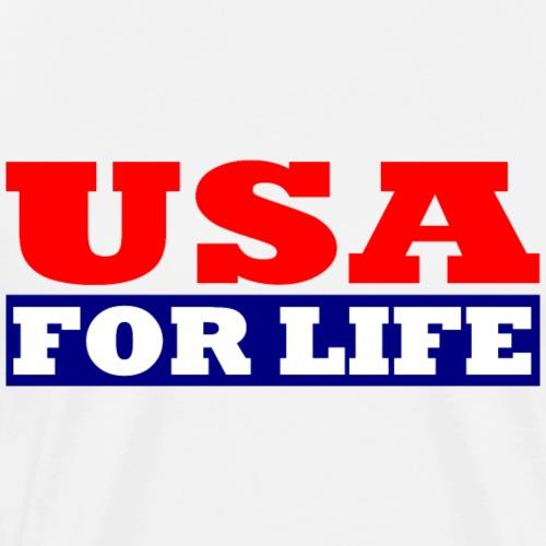 USA fürs leben - USA For Life - Männer Premium T-Shirt