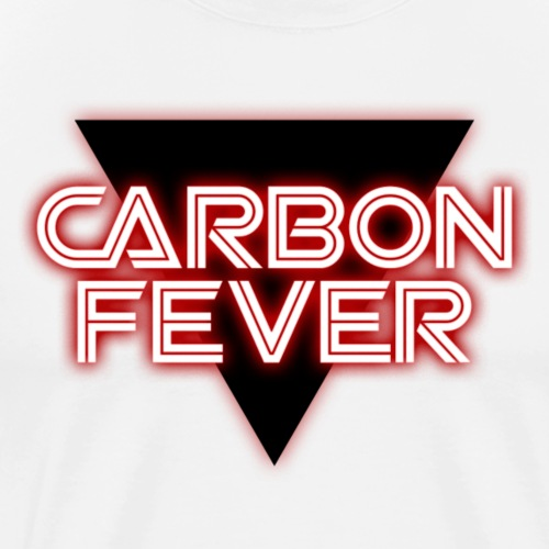 CARBON FEVER Triangle b w red - Männer Premium T-Shirt