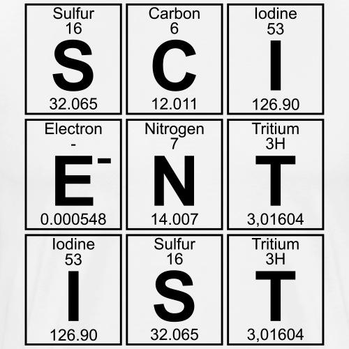 S-C-I-E-N-T-I-S-T (scientist) - Men's Premium T-Shirt