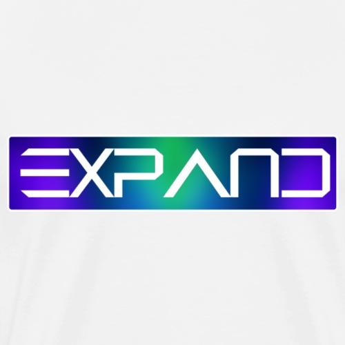 Expandblurryblue - Mannen Premium T-shirt