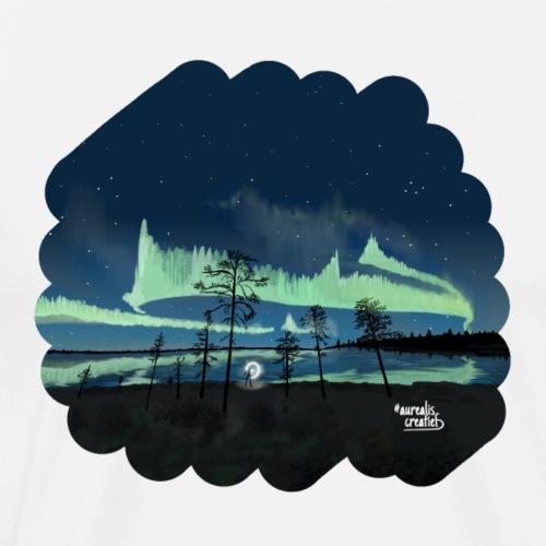 Noorderlicht reflectie - T-shirt Premium Homme