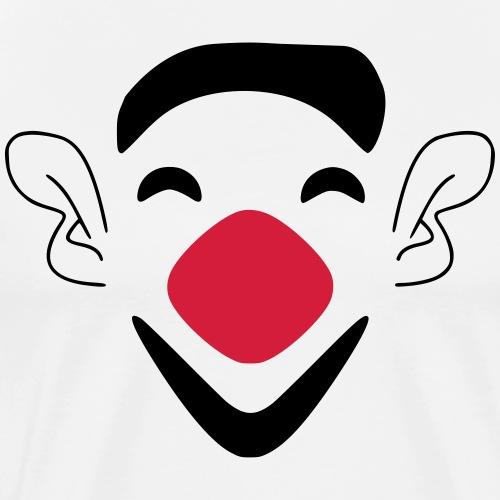 Clown zum Fasching - Männer Premium T-Shirt