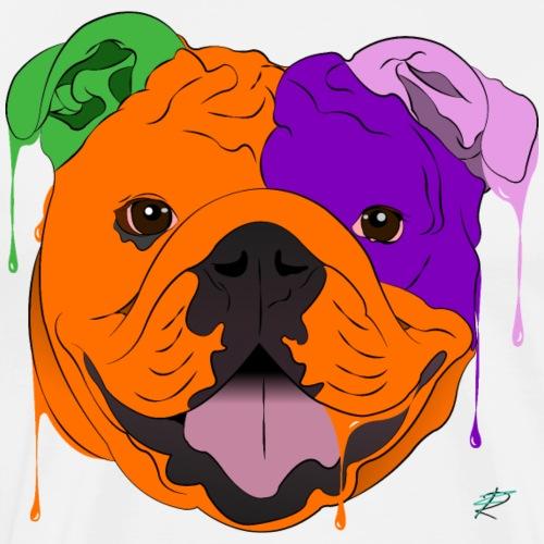 Bulldog - Maglietta Premium da uomo
