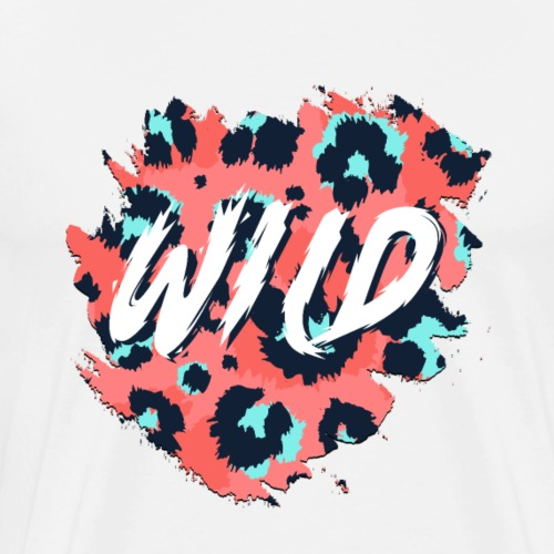 Go Wild with Style! -Beautiful & Colorful Template - Men's Premium T-Shirt