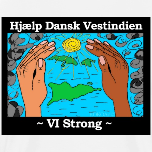 Hjælp Dansk Vestindien - Herre premium T-shirt