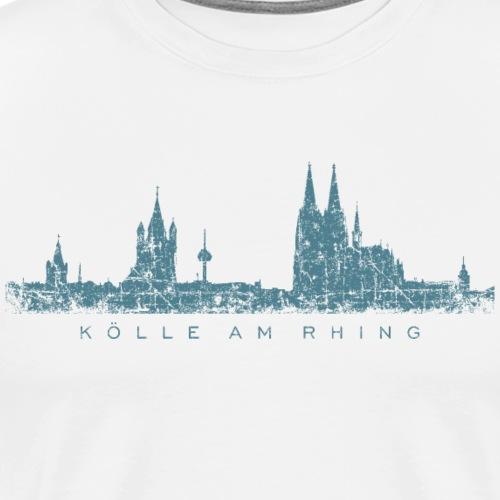 Kölle am Rhing Köln Kölner Skyline (Vintage Blau) - Männer Premium T-Shirt