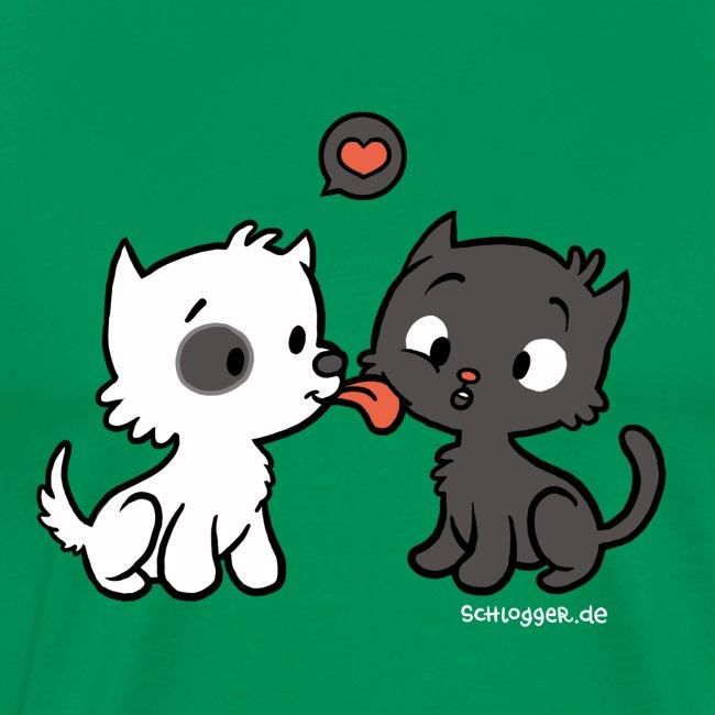 Hund liebt Katze