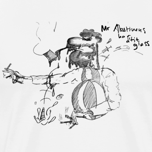 Mr. Abstinens har ätit glass - Premium-T-shirt herr