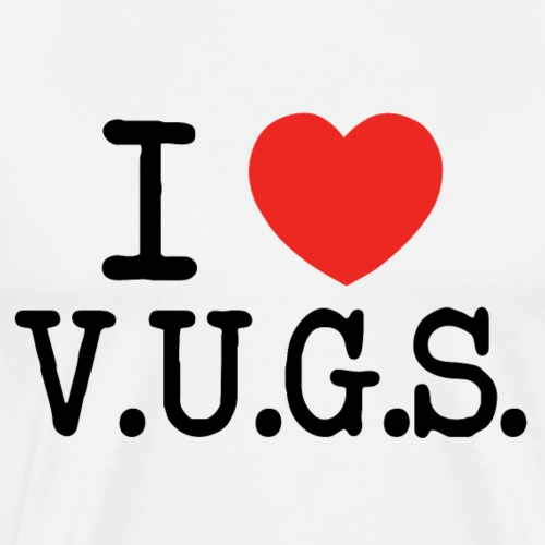 I Heart V.U.G.S. - Mannen Premium T-shirt