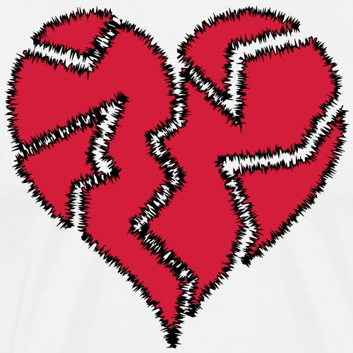 Warp Heart Broken - Men's Premium T-Shirt