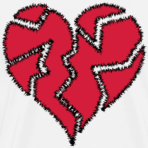Warp Heart Broken - Men's Premium T-Shirt