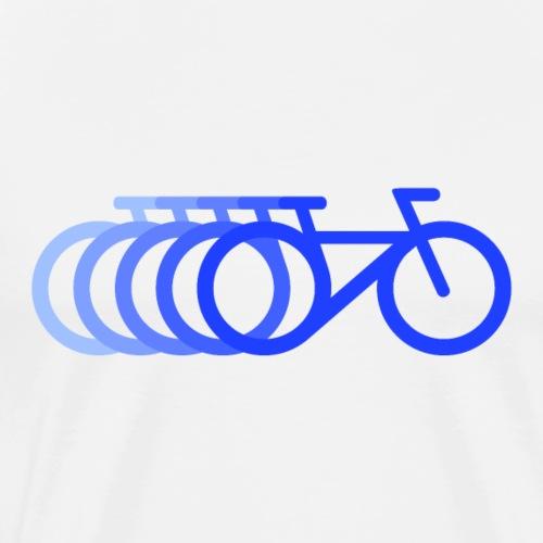 Schnelles Fahrrad minimalisisch mit Dopplereffekt - Männer Premium T-Shirt