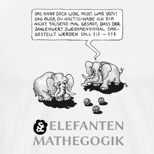 ELEFANTENMATHEGOGIK (1): KÖDDEL (1) [Graustufen] - Männer Premium T-Shirt