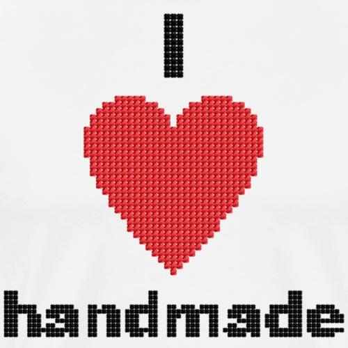 i love handmade - Designer Herz DIY - Männer Premium T-Shirt