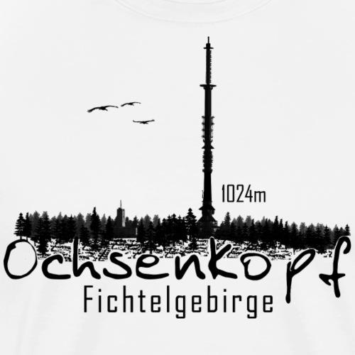 Ochsenkopf mit Asenturm Fichtelgebirge - Männer Premium T-Shirt
