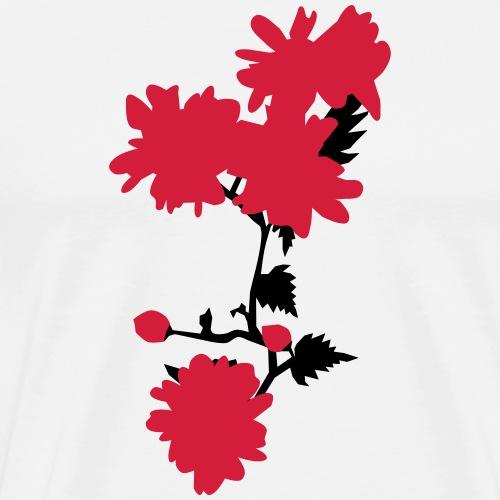 Asian flowers - Men's Premium T-Shirt