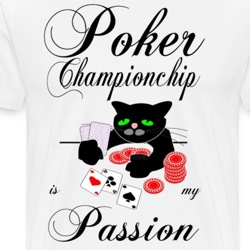 Pokerspieler Championchip Passion black - Männer Premium T-Shirt