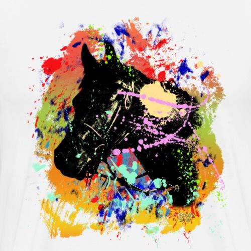 Kreativ-Pferd - Männer Premium T-Shirt