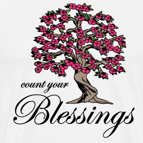 Sany O. Jesus T Shirt Blessings Segen Lebensbaum - Männer Premium T-Shirt