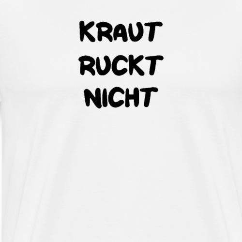 Kraut ruckt nicht Spruch lustig geschenk Angeln - Männer Premium T-Shirt