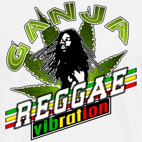 ganja reggae vibration - T-shirt Premium Homme