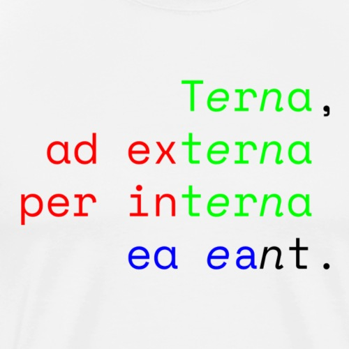 Terna Alba - Maglietta Premium da uomo