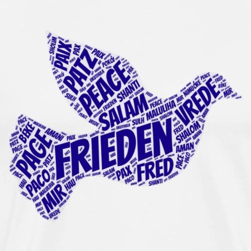 Frieden Taube blau Peace - Männer Premium T-Shirt
