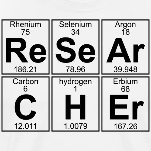 Re-Se-Ar-C-H-Er (researcher) - Full - Men's Premium T-Shirt