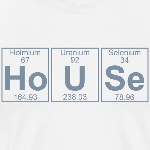 Ho-U-Se (house) - Full - Men's Premium T-Shirt