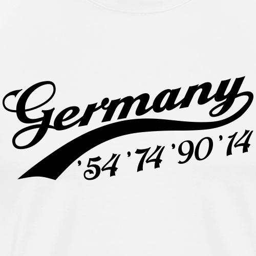 Germany 54 74 90 14 - Männer Premium T-Shirt