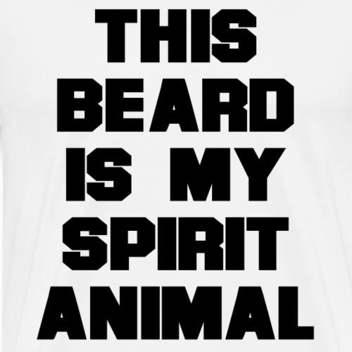 Dieser Bart ist mein Geist Tier - Männer Premium T-Shirt