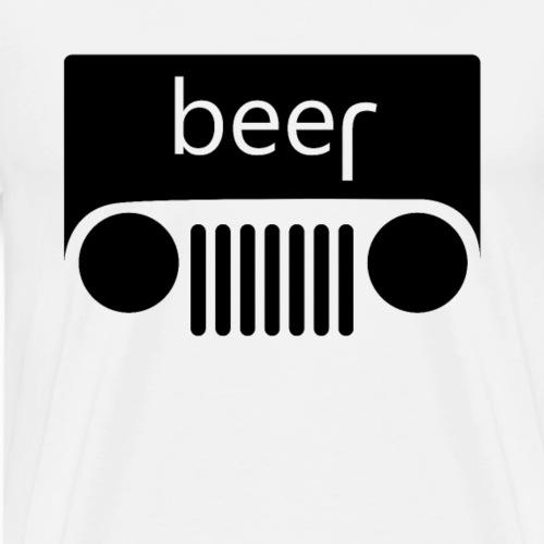 Bier Beer Jeep Auto PKW - Männer Premium T-Shirt