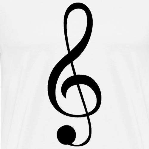 Musik Symbol Notenschlüssel Violinschlüssel - Männer Premium T-Shirt