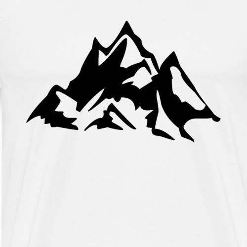 Berg Symbol Berge Gebirge Bergsteiger Klettern - Männer Premium T-Shirt