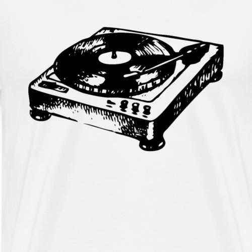DJ Symbol Schallplatte Plattenspieler Vinyl - Männer Premium T-Shirt