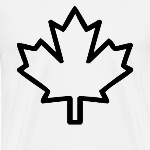 Kanada Symbol Ahorn Blatt Wappen Heimat - Männer Premium T-Shirt