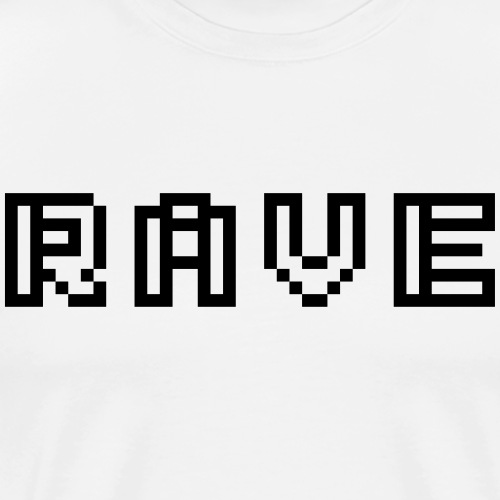 Rave digital Schriftzug Pixel Text - Männer Premium T-Shirt