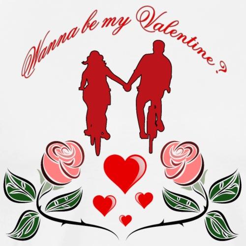 Wanna be my Valentine? - Männer Premium T-Shirt
